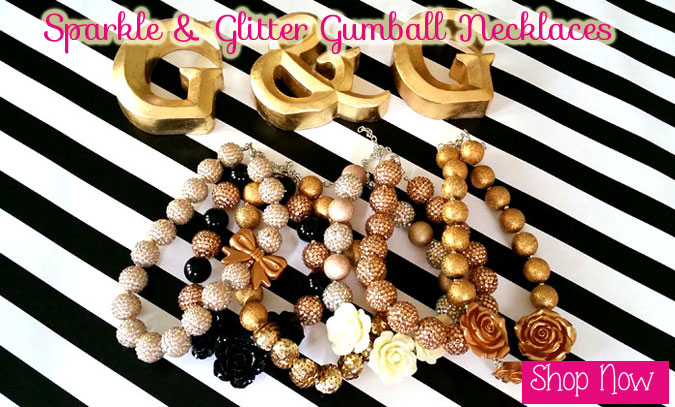 girls chunky gumball necklaces