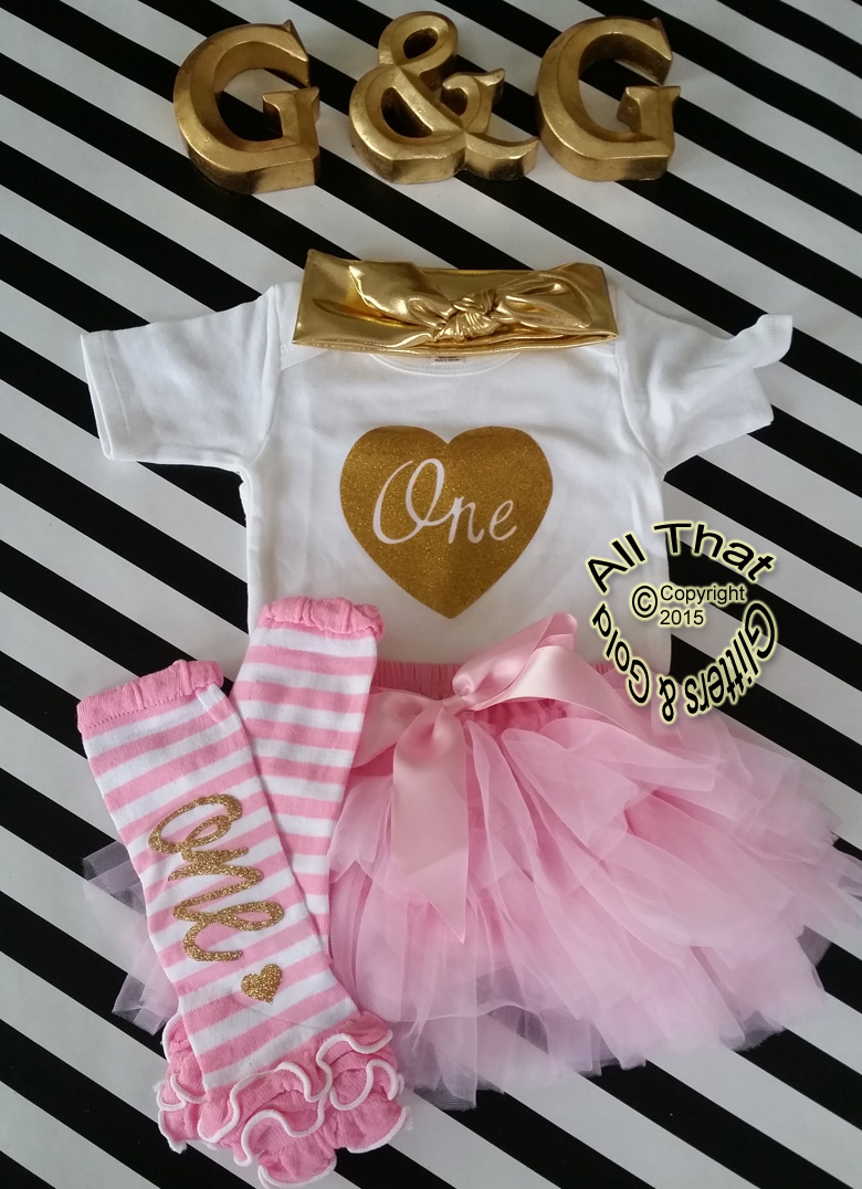 da74eacef08c 1st Birthday Outfits - Cute Gold One - Girls First Birthday Tutu Outfits