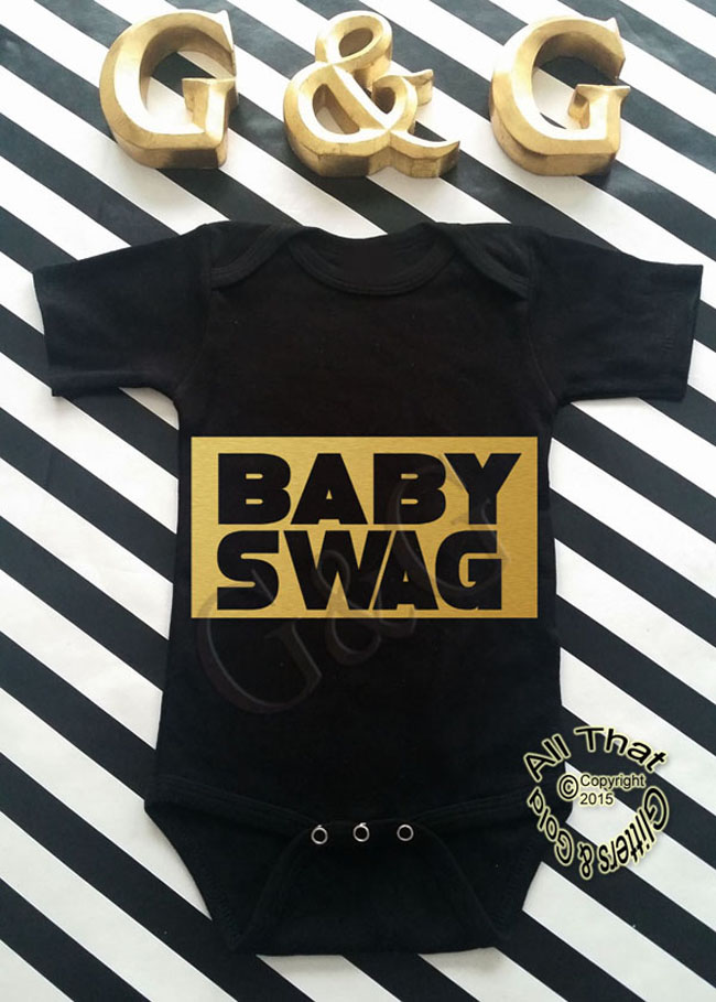 ecdbe85d3 Cute Glitter Gold Clothing For Babies - Funny Onesies - Cute Baby ...