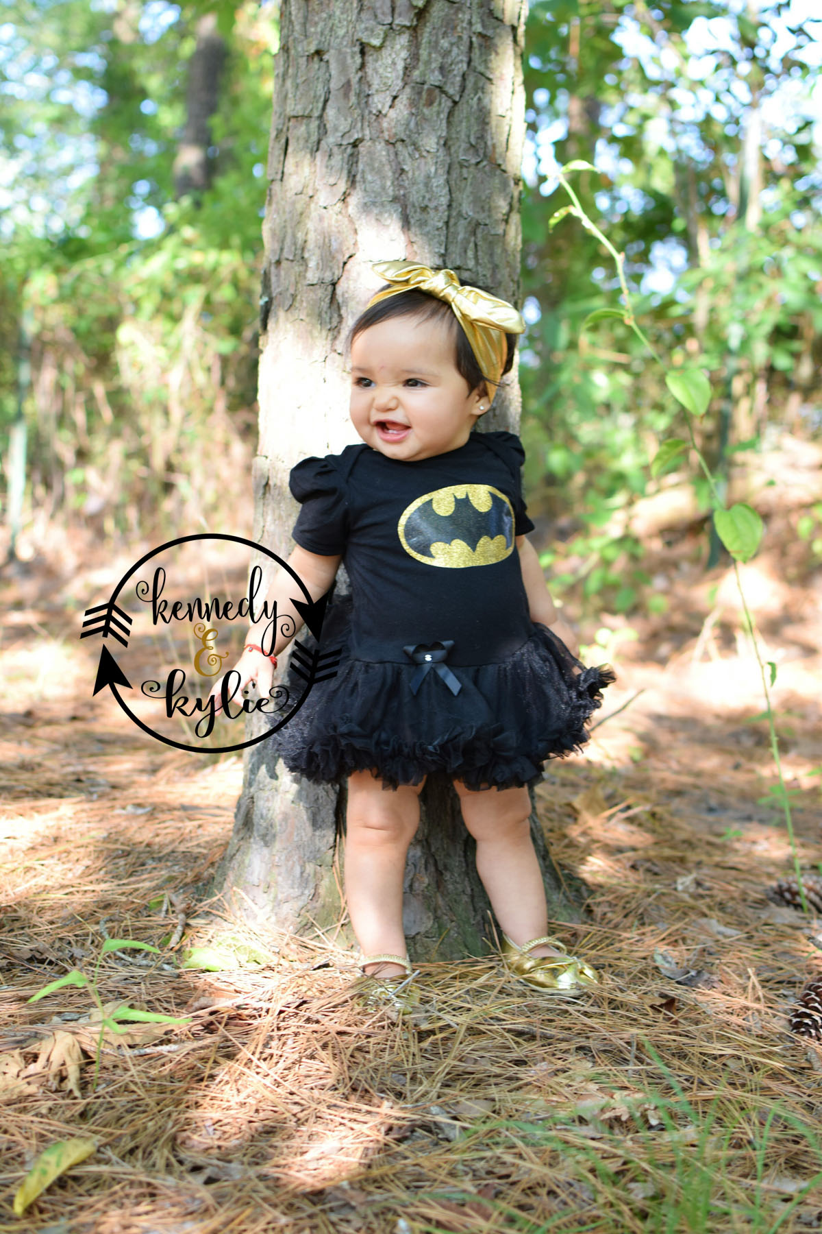 Glitter Batgirl 2 Piece Tutu Onesie Set For Baby Girls