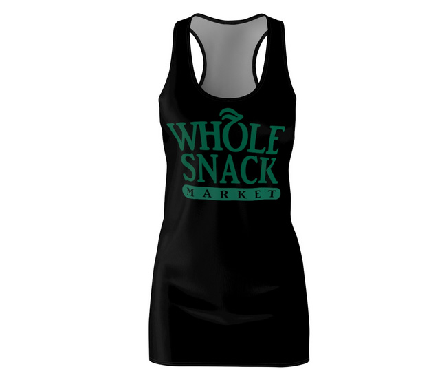 Whole Snack Tank Mini Dress For Teens and Women