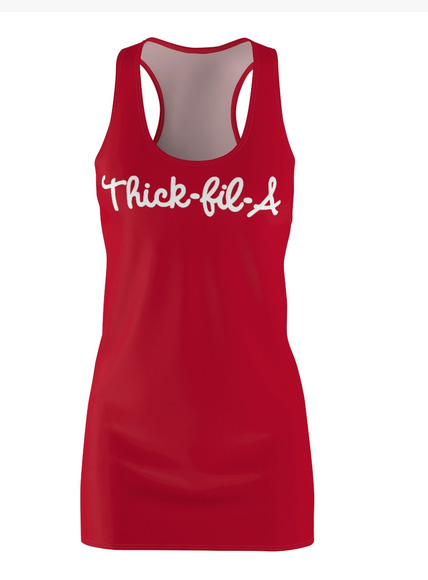 Thick Fil A Tank Mini Dress For Teens and Women
