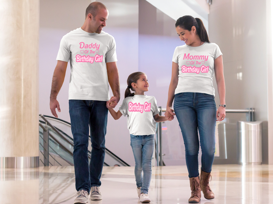 Barbie Family Birthday Girl Shirts - Can Be Made With Any Age!