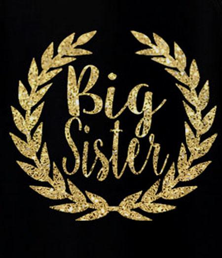 Sister Birthday Laurel Leaf Glitter DIY Iron On Transfers For Shirts