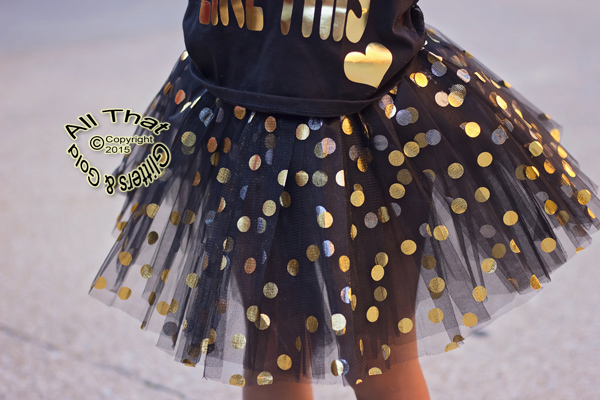 Gold Polka Dot Tutu Skirts For Baby Girls and Little Girls