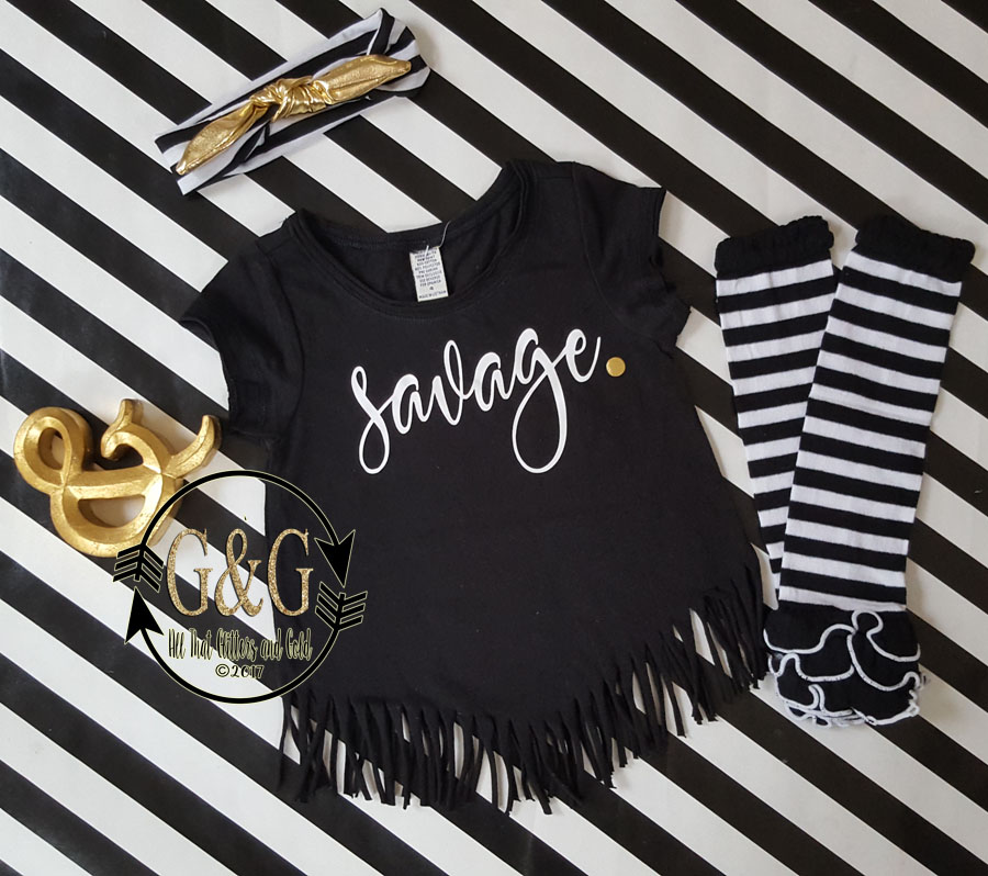 Savage Fringe Shirts For Toddlers and Big Girls