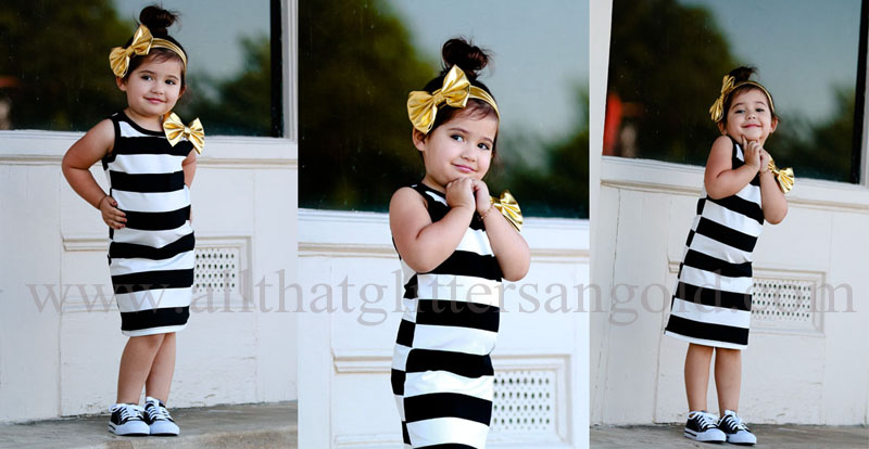 16695b539ccf Cute Maxi Dresses For Little Girls - Girls Black White Striped Summer ...
