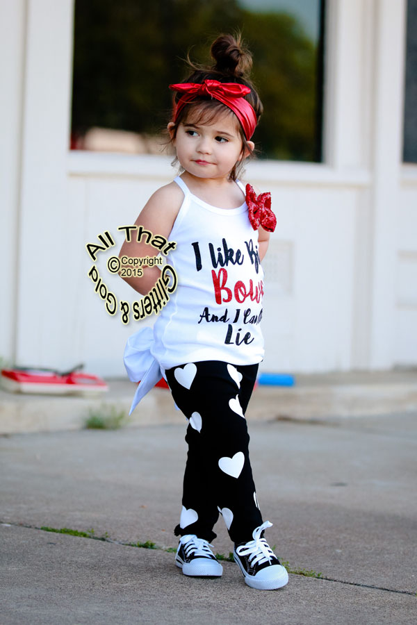 I Like Big Bows Baby Girls and Little Girls Shirt