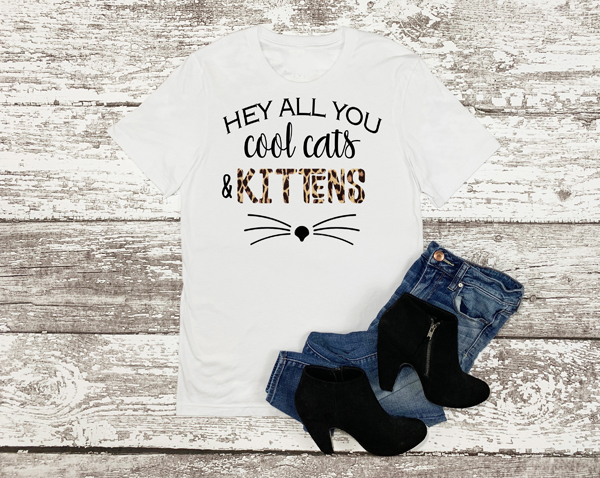 Hey All You Cool Cats and Kittens Leopard Tiger King Carole Shirts For Women
