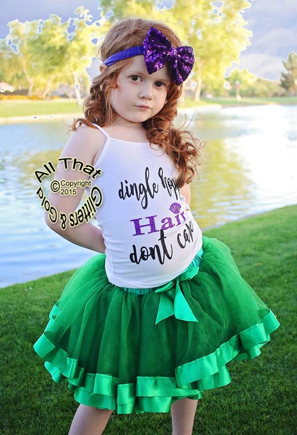 Dingle Hopper Hair Dont Care Baby Girls and Little Girls Shirt