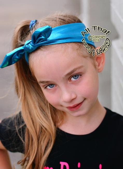 Girls Metallic Knot Headbands - Blue Little Girls Baby