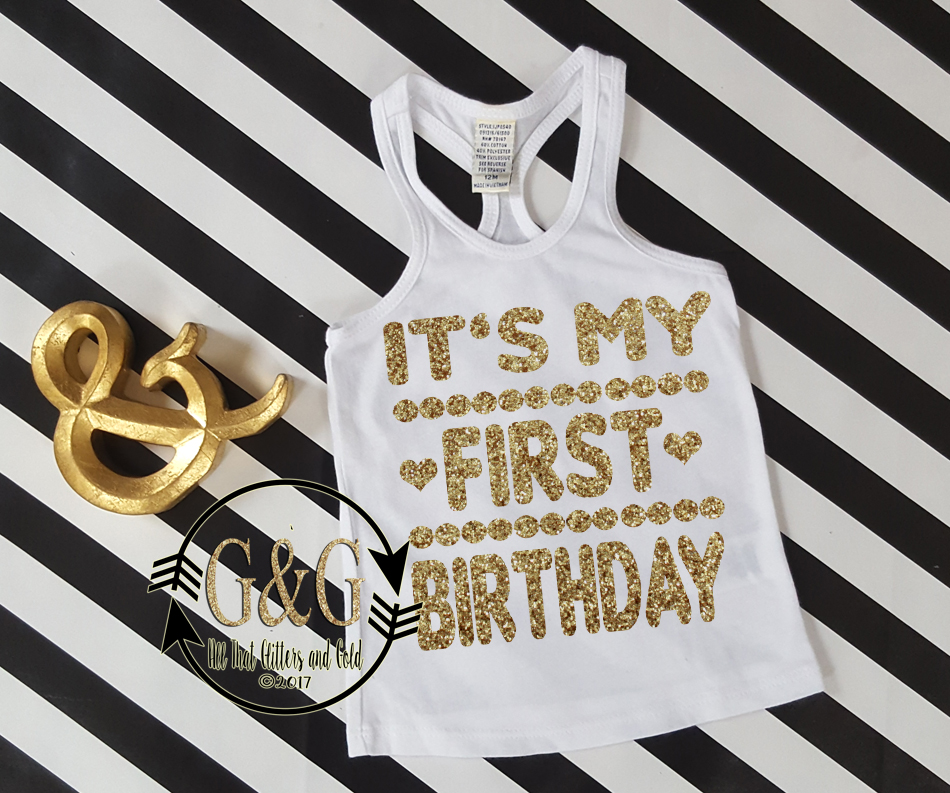 Glitter Its My Birthday Shirts For Baby Girls Toddler