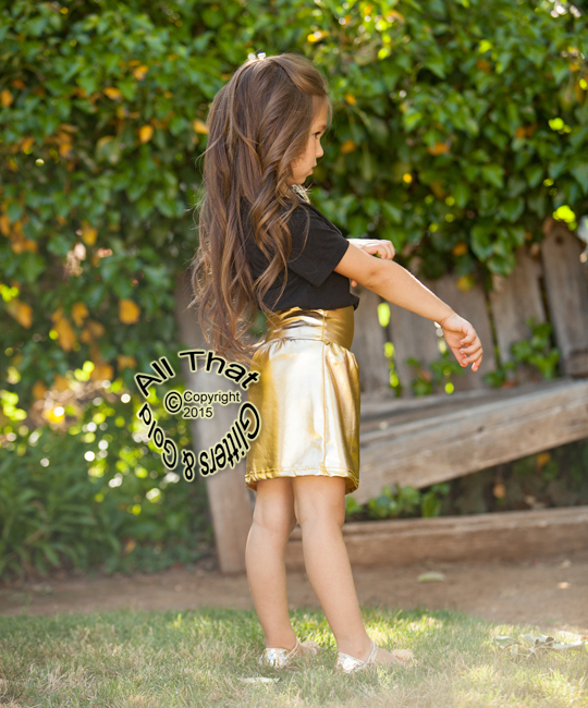 Gold Pencil Skirts