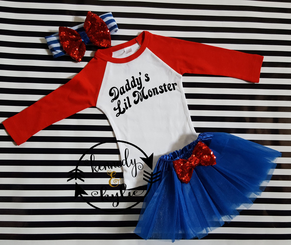 Cute Harley Quinn Birthday Tutu Costume For Baby Girls and Little Girls
