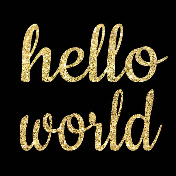Hello World Glitter DIY Iron On Transfers For Shirts