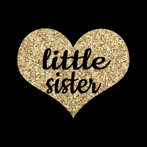 Little Middle Big Sister Glitter Diy Iron On Heat Transfer