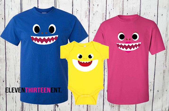 Shark Family Birthday Shirts - Shark Halloween Group Costumes