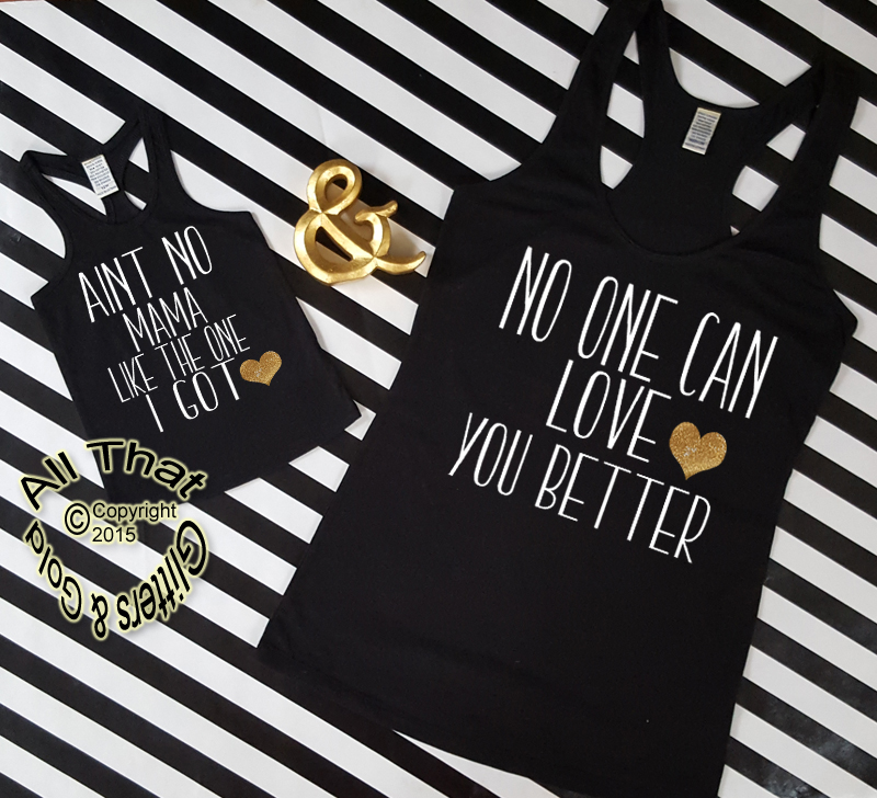 Mommy And Me Daughter Shirts Funny Aint No Mama Tanks Tops