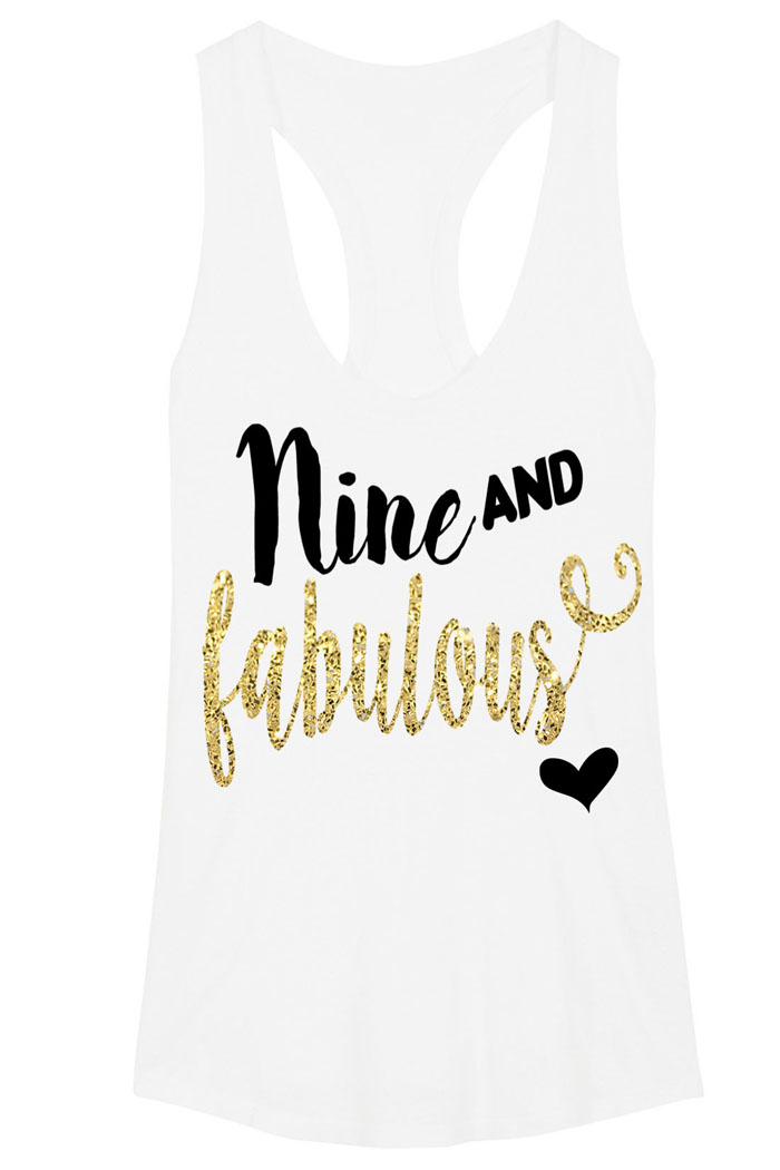 Black and Gold Glitter Fabulous Birthday Shirts For Girls Any Age