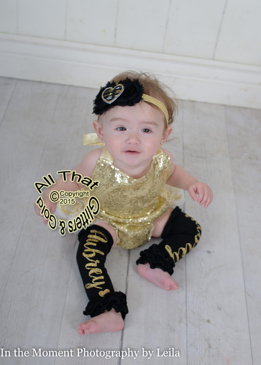 Personalized Glitter Baby Girl Leg Warmers