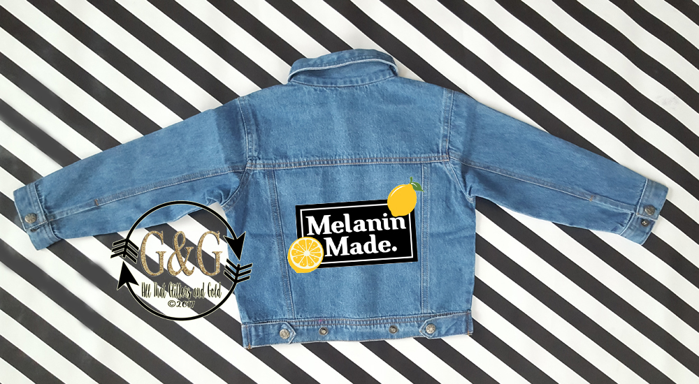 Personalized Melanin Made Denim Jacket For Babies To Youth