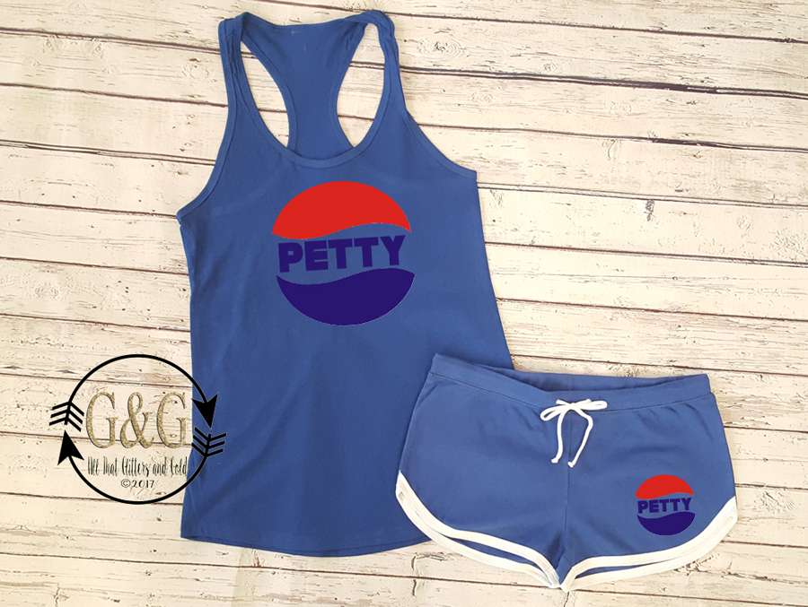 Petty Pepsi Inspired Summer Shorts Outfit Set For Juniors and Women