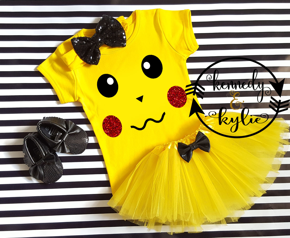 Pikachu Birthday Tutu Costume For Baby Girls Toddler Girls