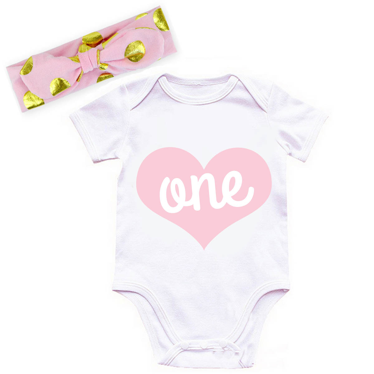 c532419ae Pink and Gold One Year Old Shirt or Outfit For 1st Birthday