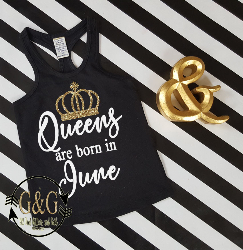 Queens Are Born In Birthday Month Shirts For all Ages