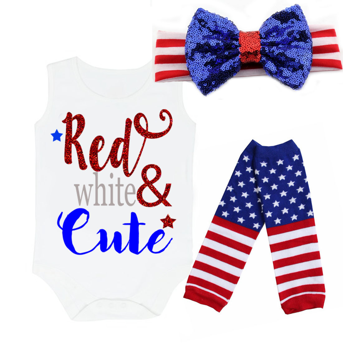 Red, White and Cute 4th of July Patriotic Outfits For Baby ...