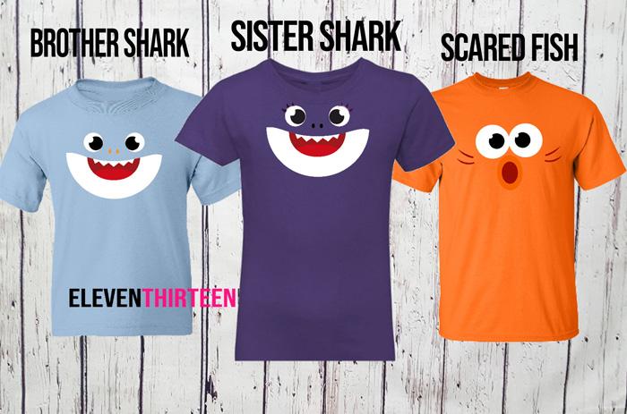 Shark Family Birthday Shirts - Shark Halloween Group Costumes