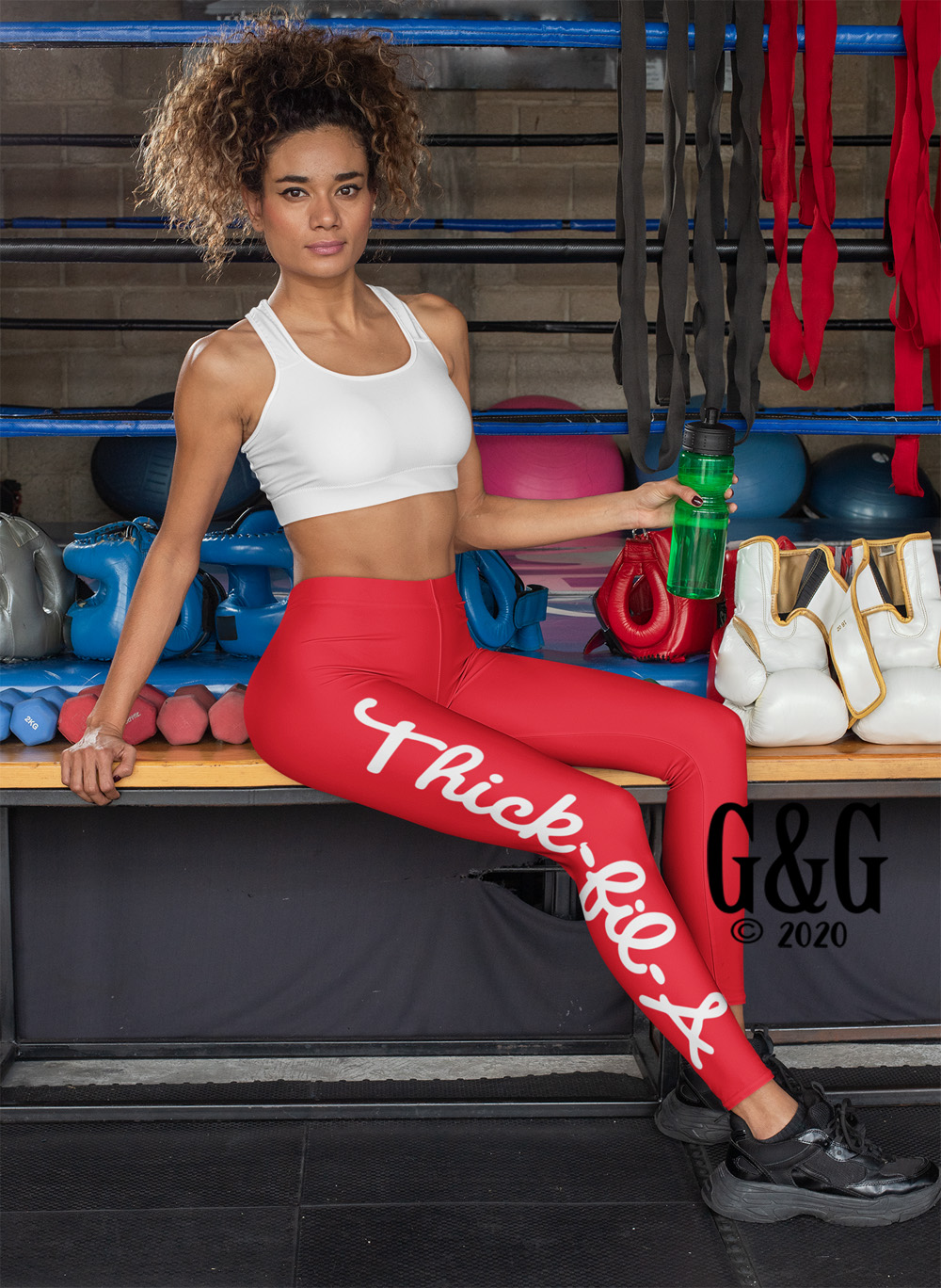 Thick-Fil-A Workout Outfit Set With Leggings For Juniors and Women
