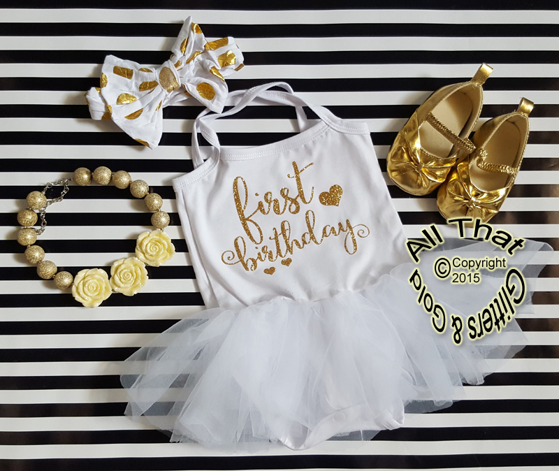 Cute White Black Pink Gold Glitter Tutu Dresses For Babies