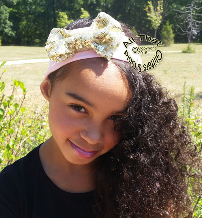 Baby and Little Girls Sequin Big Bow Headbands