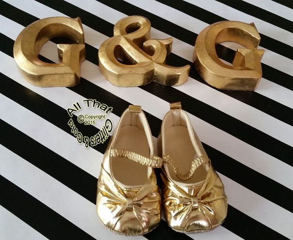 Gold Soft Soled Mary Jane Dress Baby Shoes