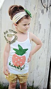Personalized Pineapple Coral and Green Glitter Shirt For Girls