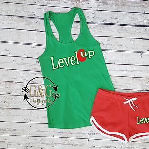 Cute Level Up Summer Shorts Outfit Set For Juniors and Women