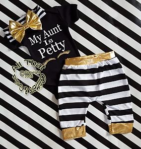 Black, White and Gold My Aunt Is Petty Shirt or Outfit