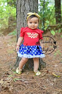 ... Glitter Wonder Woman 2 Piece Tutu Onesie Set For Baby Girls  sc 1 st  Cute Birthday Outfits For Girls & Baby Girl Wonder Woman Tutu Costume - 2 Pc Glitter Tutu Costume ...