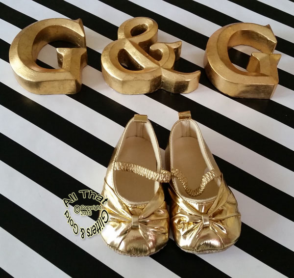 Gold Mary Jane Sandals Soft Soled Baby