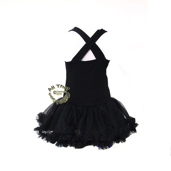 Gold Fabulous Black Boutique Tutu Dresses For Little Girls