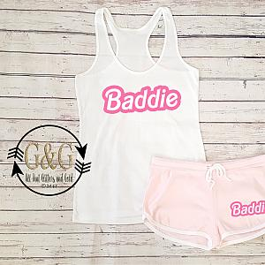 Cute Baddie Hot Pink Summer Shorts Outfit Set For Juniors and Women