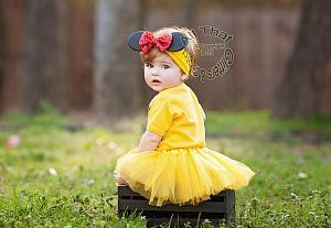 Cute Belle Inspired Birthday Tutu Costume For Baby Girls and Little Girls
