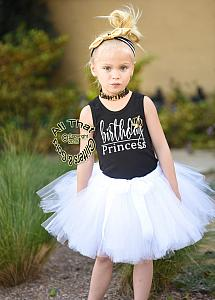 Black, White and Gold Birthday Princess Birthday Tutu Outfit For All Ages