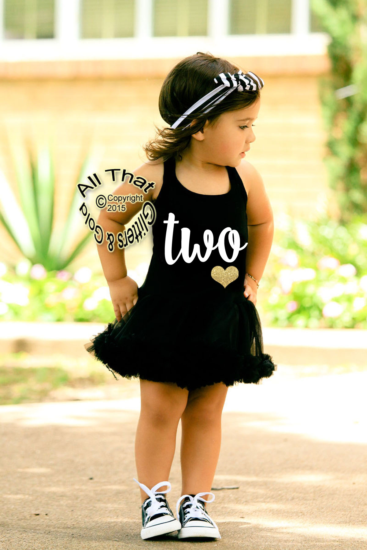 Cute 2nd Birthday Dresses - Black and White Two Glitter ...
