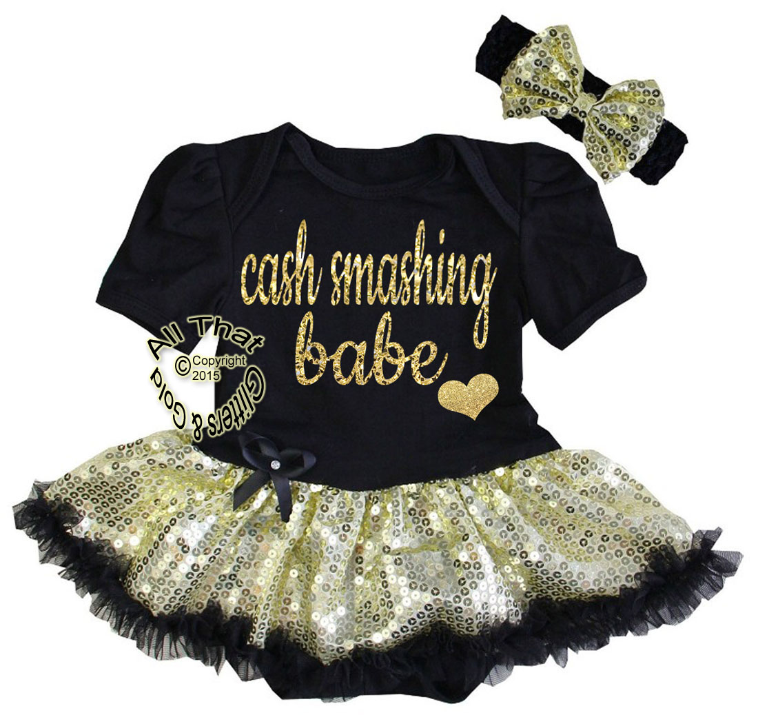 Cute 2 Piece Glitter Cake Smashing Babe Tutu Dresses for Babies First Birthday