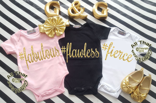 Cute Hashtag Baby Girl Onesies or Little Girl Shirt