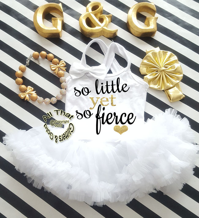 Glitter and Sparkly So Little Yet So Fierce Tutu Dresses For Little Girls