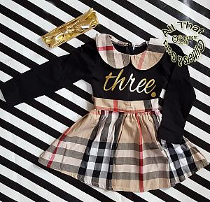 Cute Plaid Birthday Dresses For Toddler Girls