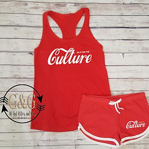 Cute Do It For the Culture Summer Shorts Outfit Set For Juniors and Women